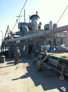 Deck of SS Jeremiah O'Brian, a WWII Merchant Marine vessel berthed at Pier 45.
